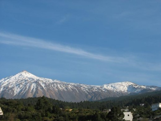 Mt Teide as viewed from Finca Alternativa