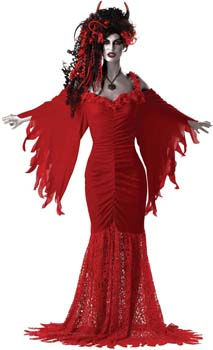 Large Ladies Devil Costume - suitable for UK dress Sizes 14 -16