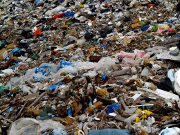 Much of the waste in a landfill can be reused or recycled before it is dumped.
