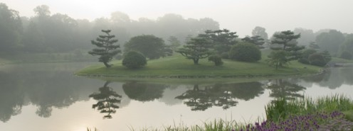 Japanese Islands at the Chicago Botanic Garden (public domain).