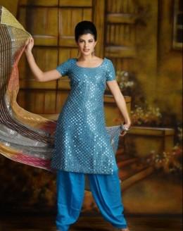 Jacqueline Fernandez in a Blue Salwar