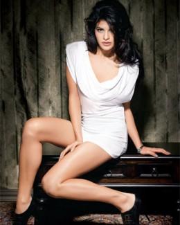 Jacqueline Fernandez Hot Sexy White Dress