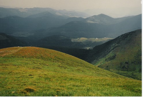 The Ukrainian Carpathians from the slopes of Hoverla.