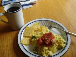 Mexican Breakfast Ideas – The Salsa Bagel Sandwich and The Salsa Western!