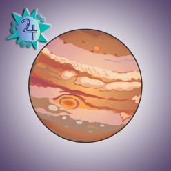 Jupiter is the largest planet in the solar system. It measures an astonishing 88,700 miles. How does the mass compare? You need 318 Earths to equal 1 Jupiter.