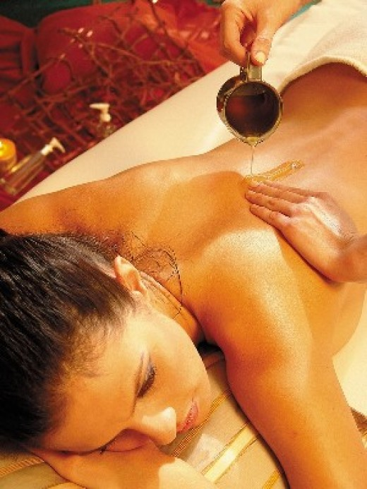 Ayurveda Hot Mustard Oil Massage Indian Girl bed pic