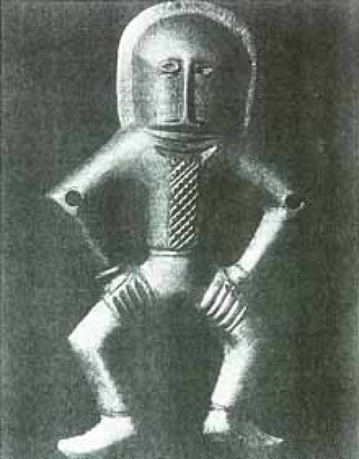 Strange figure discovered in Kiev, apparently wearing a suit, c. 4,000 BC