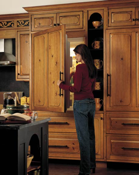 Integrated refrigerators blend perfectly into a room.