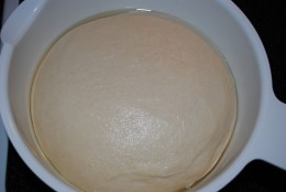 Allow the dough to rise until doubled in size, about two hours depending on the warmth of the room.