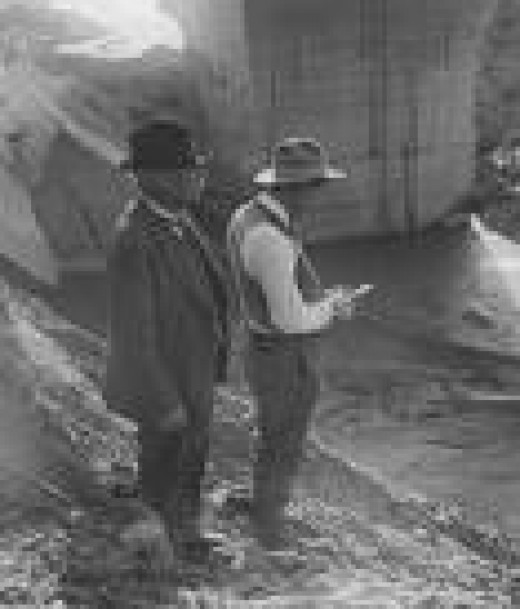 William Mullholland at the St. Francis Dam