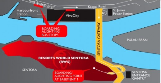 Resorts World Sentosa (RWS) map