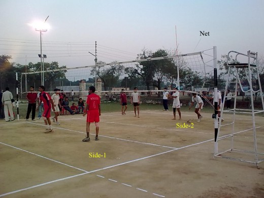 Volley balll court
