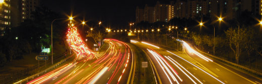 Highway Traffic Time Lapse Exposure