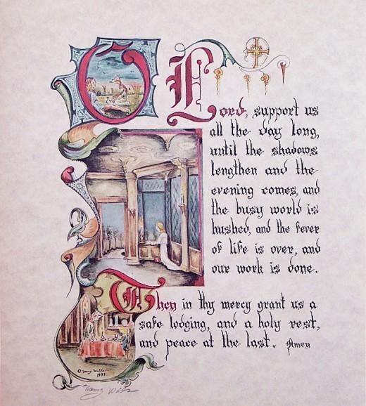 Evening Prayer - an illustration from Nancy Wilds Art