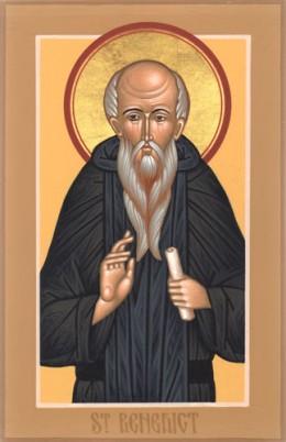 Saint Benedict - Icon by Matthew Garrett 2007