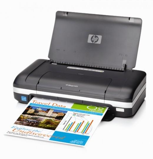 HP Officejet H470b a typical laptop printer