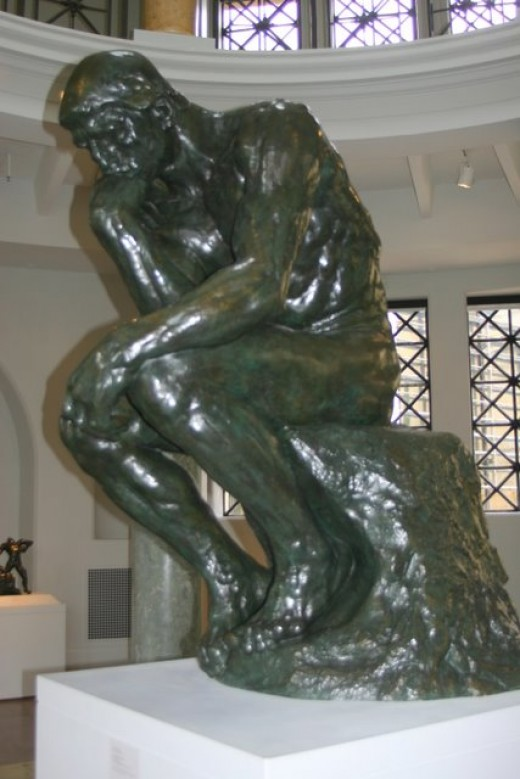 The Thinker by Auguste Rodin, Leland Stanford, Jr./Cantor Art Center   deedsphoto