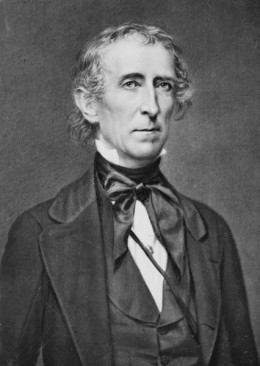 President John Tyler, whose diplomatic intrigues almost led to failure for Texas annexation