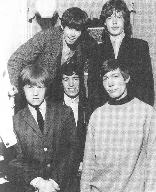 Keith Richards, Mick Jagger, Brian Jones, Bill Wyman and Charlie Watts.