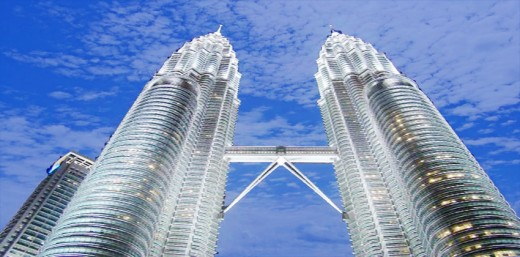 Petrona Towers, Malaysia, once the tallest building in the world