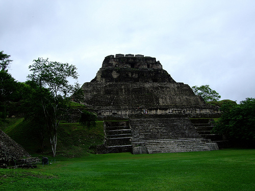 One of many restored Mayan ruins that visitors can see in Belize.