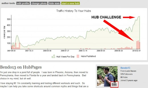 HubPages Stats for February