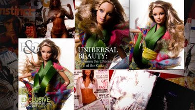 F & G magazine features a doll covergirl!!!