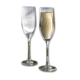 Elegant flutes are perfect for wedding toasts