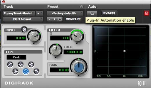 EQ 3 1-Band Effect Plug-In