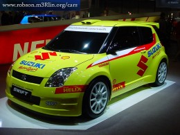 Yellow modified Maruti Swift