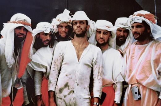 The Mercury 7 undergo desert survival training. Image Courtesy of NASA.