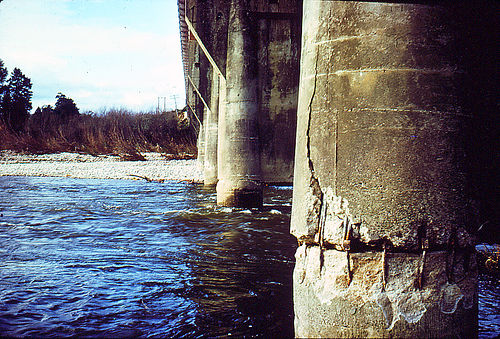 A damaged bridge after an Earthquake.