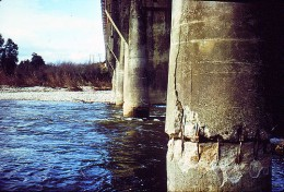 A damaged bridge after an Earthquake.