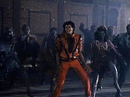Image from the Thriller Video
