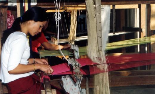 Silk Weaver, Laos