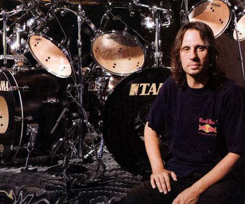 Dave Lombardo, he'll blow you to pieces with his double bass drumming.