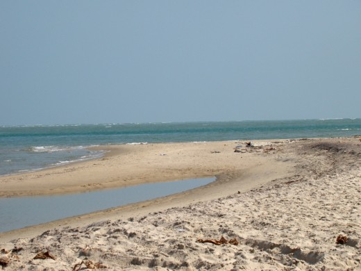 The land's end; at Dhanushkodi