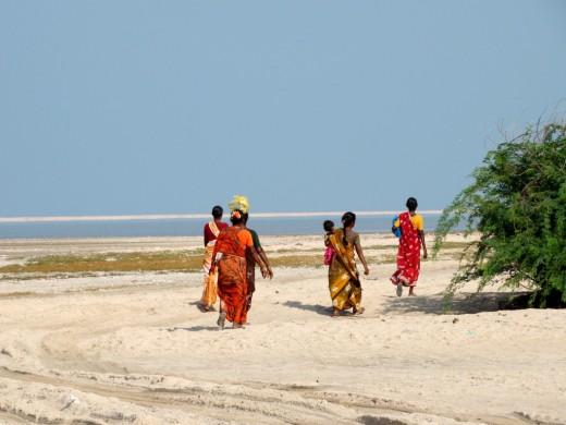 Fisher women at Dhanushkodi