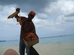 Fresh lobster available on the beach