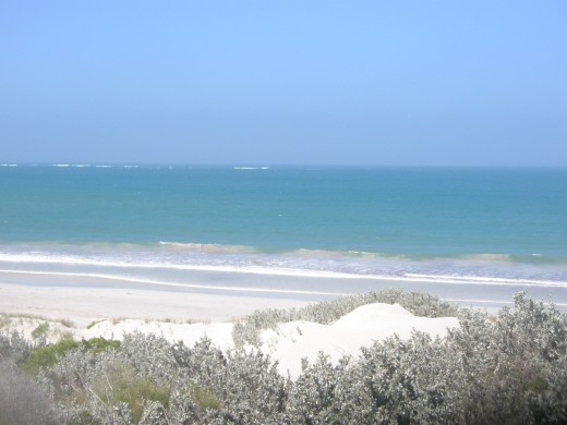 The last view of the Geraldton beach.