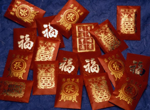Lai-see, a special red envelope with money in it