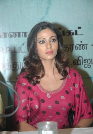 Sadha at a Press Conference