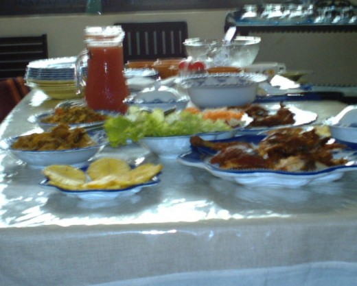the meal is ready - the table is set - delicious home cooked food - expecting a guest