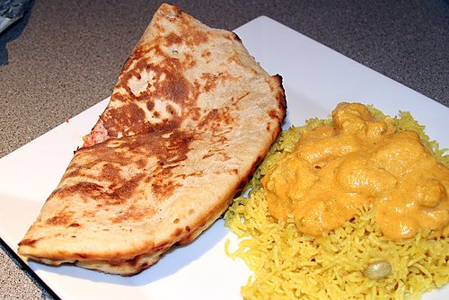 Chicken Korma, a mild dish with tomato and yoghurt