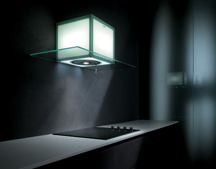 Elica cube light range hood - photo credit: www.trendir.com