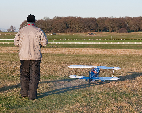 Flying RC planes is a popular hobby these days.