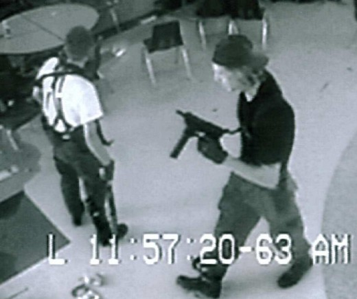 Eric (left) and Dylan on a security camera
