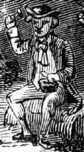 A leprechaun is shown crafting shoes in this Engraving made in 1858.