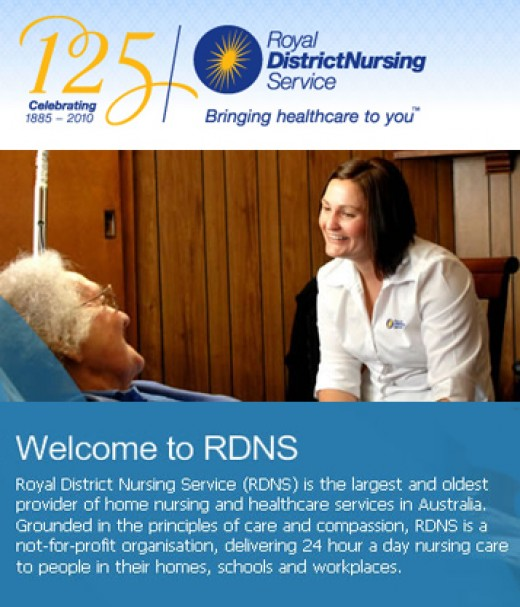 Royal District Nurses have been around for 150 years and they were a great help with my mum.