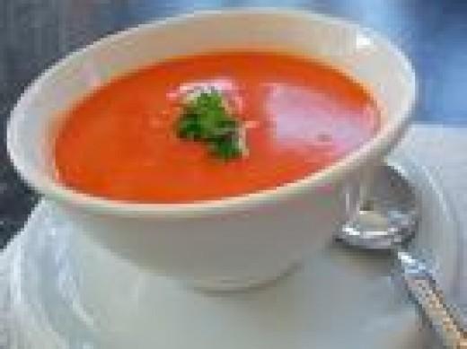 Serve soup hot, but never boil it